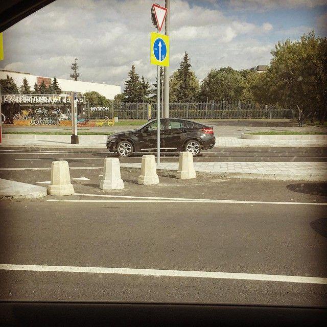 Решение проблемы неправильного съезда на Садовом кольце в Москве (фото + видео)