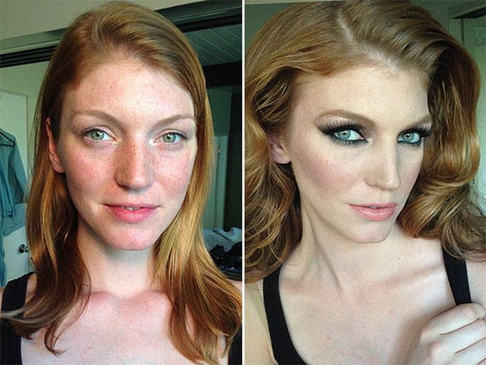 До и после макияжа (10 фото)