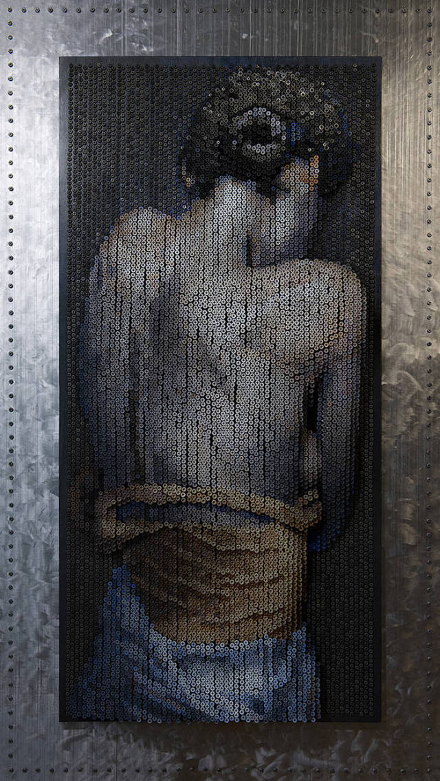 Необычная картина из обычных саморезов (13 фото)
