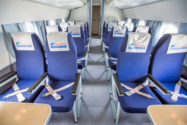 Ту-134 переоборудованный в комфортабельный авиалайнер  (12 фото)
