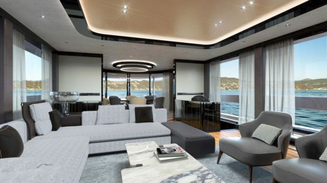 Роскошная яхта за 16 миллионов долларов от студии Porsche (8 фото)