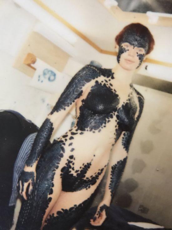 Ребекка Ромейн на съемках фильма «Люди Икс: первый класс» (3 фото)