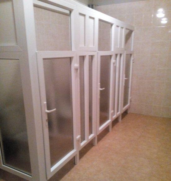Новый туалет в общежитии (3 фото)