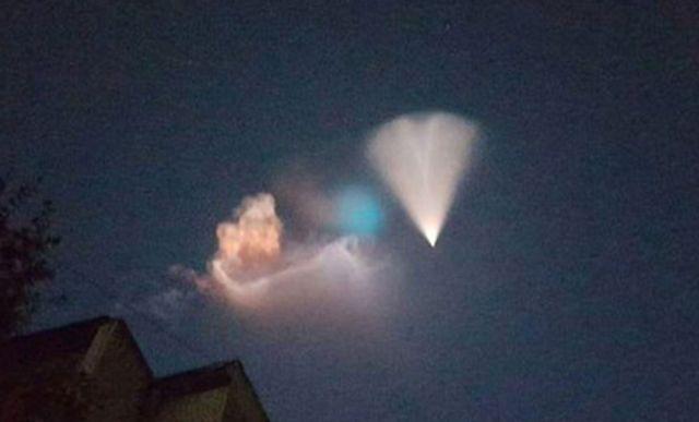 Жители юга России приняли баллистическую ракету за НЛО (6 фото + видео)