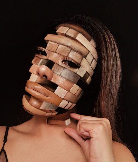 Невероятные образы и оптические иллюзии от визажиста Мими Чой (20 фото)