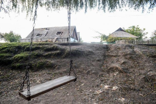 Калиновка после пожара на складе боеприпасов (14 фото)