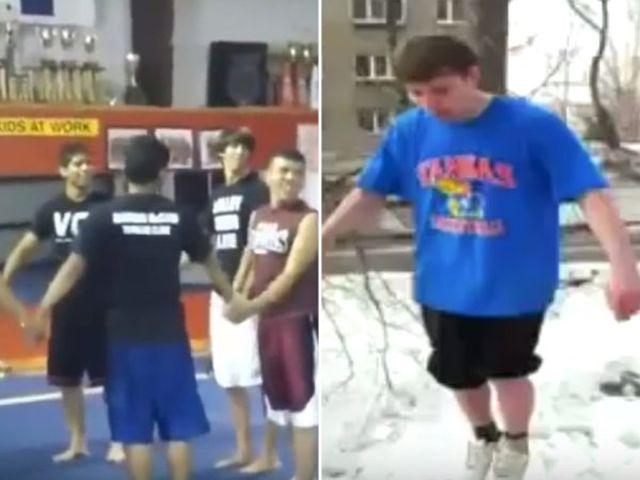 Фейлы гимнастов и акробатов  (15 гифок)