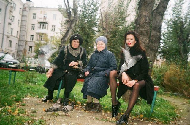 «Мисс Россия-2015» София Никитчук в контрастной фотосессии на улицах Екатеринбурга (8 фото)
