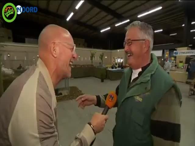 Смех голландского фермера довел репортера до слез