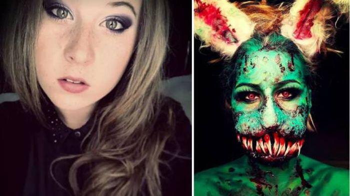 Идеи грима на Хэллоуин (17 фото)