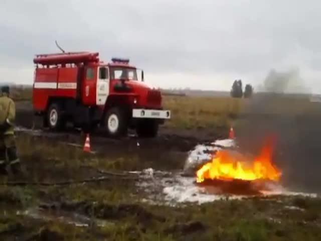 Повальные учения пожарных в Казахстане