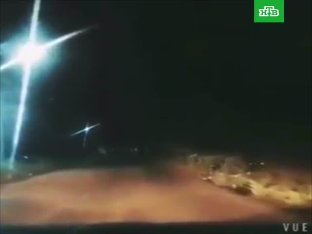 Метеор пронесся по ночному небу Китая