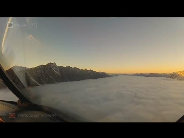 Посадка самолета в условиях нулевой видимости
