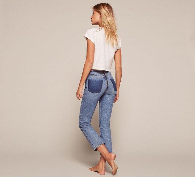 Женщинам вновь предложили джинсы со сплошной молнией (5 фото)