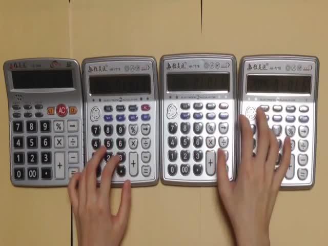 Мелодия Super Mario на калькуляторах