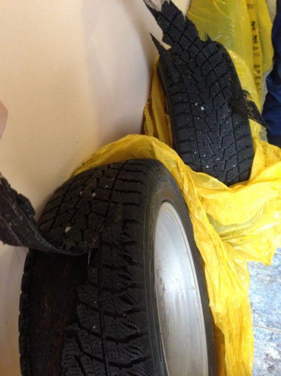 Предостережение для тех, кто собрался покупать шины б/у (4 фото)
