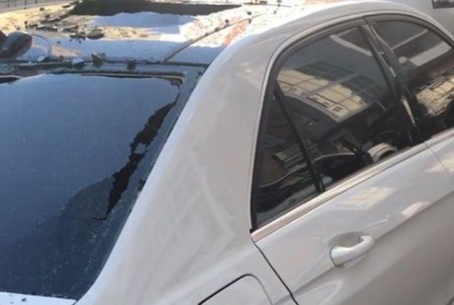 В Иркутске разбили автомобиль хоккеиста Александра Егорычева (2 фото + видео)