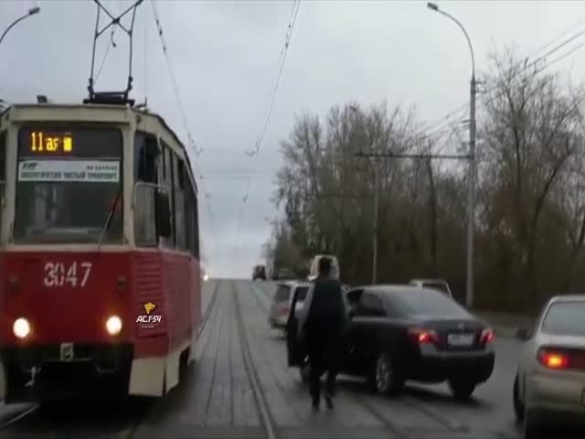 Дорожный конфликт в Новосибирске