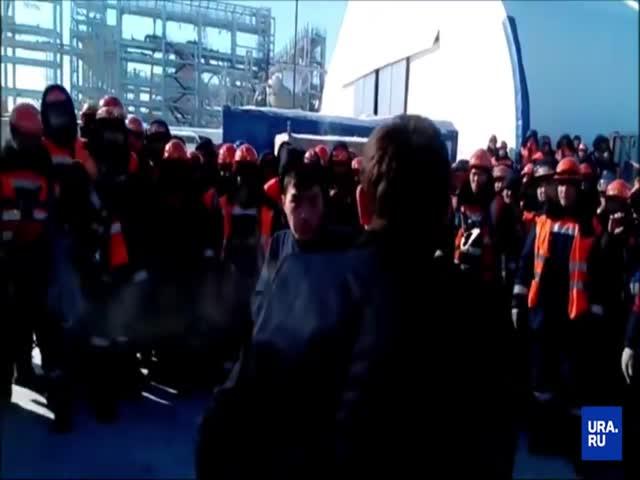 Драка якутских вахтовиков попала на видео