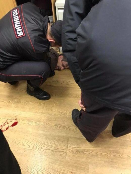 Нападение на ведущую радиостанции «Эхо Москвы» Татьяну Фельгенгауэр (6 фото)