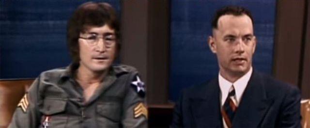 Как погибший в 1980 году Джон Леннон снялся в фильме «Форрест Гамп» 1994 год (6 фото)