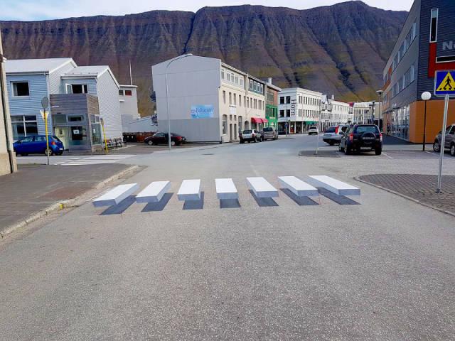 3D-пешеходный переход в Исландии (6 фото + видео)