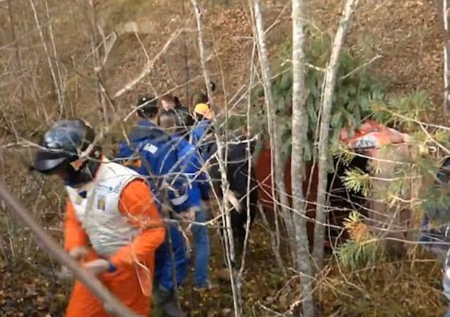 Серьезная авария на ралли в Ленинградской области (3 фото + видео)