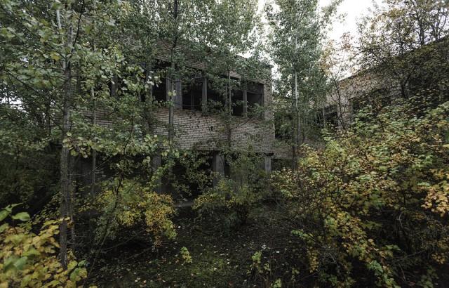 Заброшенный поселок Солнечный в Белоруссии (39 фото)