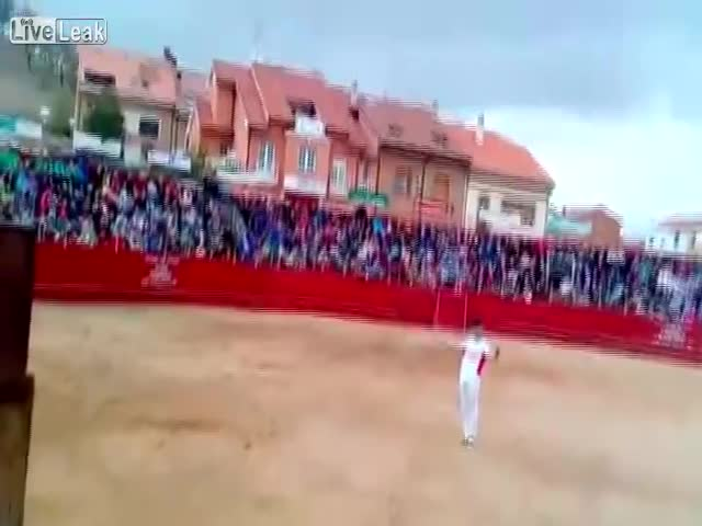Гимнаст пострадал от быка