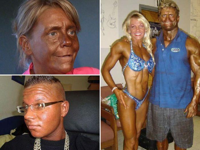 Люди, переборщившие с загаром (17 фото)