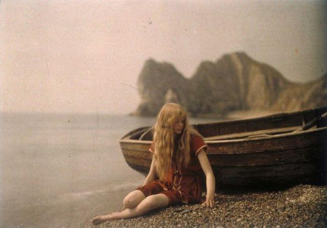 Первая цветная фотосессия, 1913 год (6 фото)