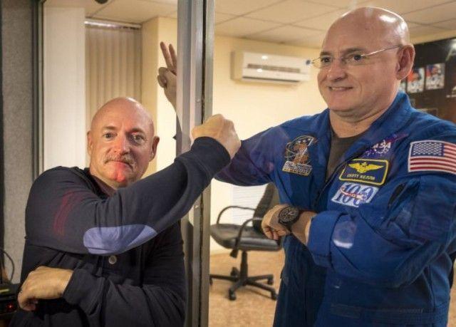 Как изменились братья-близнецы, один из которых год провел в космосе (4 фото)