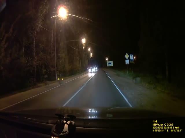 Неожиданная встреча на ночной дороге