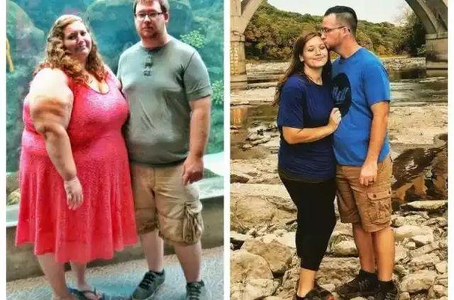 Супружеская пара сбросила 175 кг на двоих за два года (3 фото)