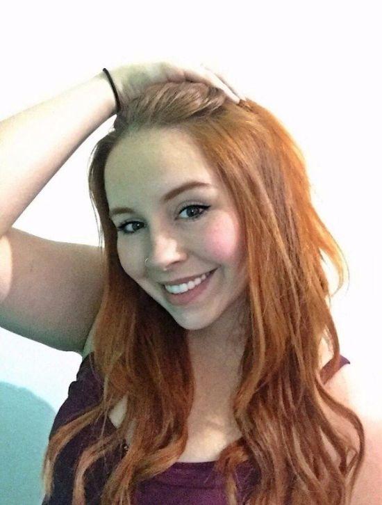 Симпатичные рыжеволосые девушки (24 фото)