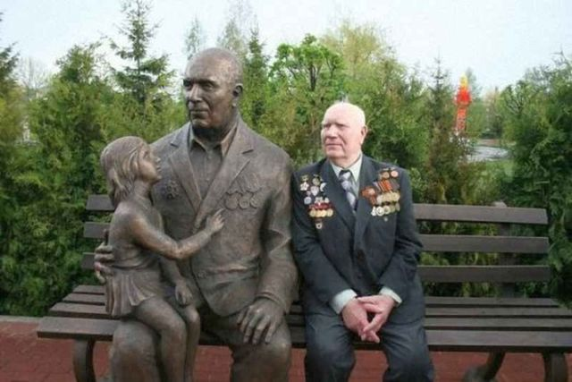 Иван Одарченко - прообраз памятника «Воин-освободитель» в Берлине (5 фото)