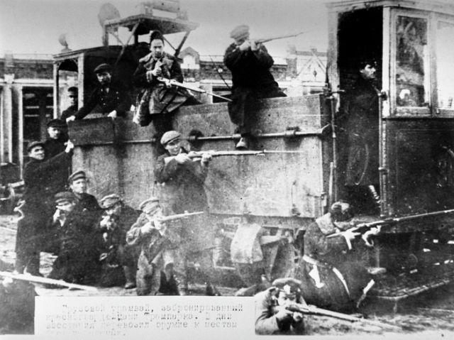 Революционная Москва в октябре - ноябре 1917 года (12 фото)