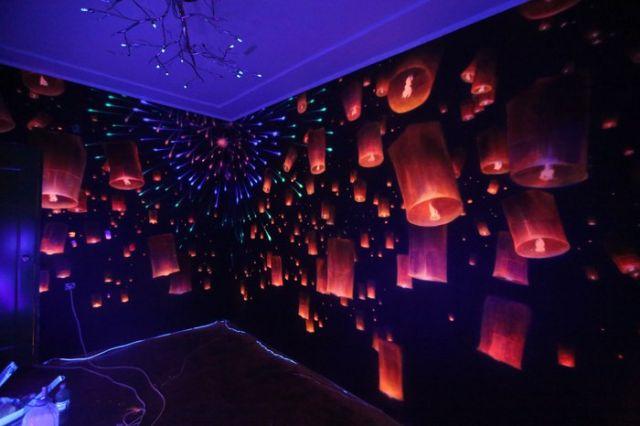 Фантастическое оформление стен комнаты (6 фото)