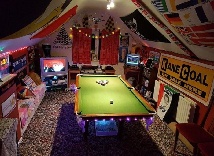 Комнаты, о которых мечтает каждый мужчина (18 фото)