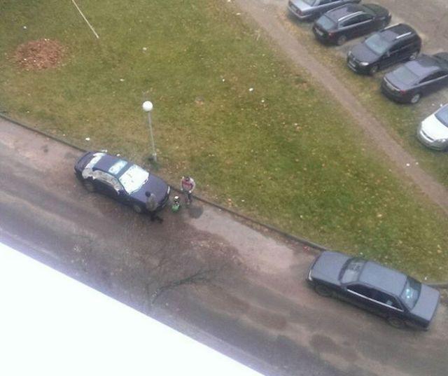 Необычная покраска автомобиля в Минске (4 фото)