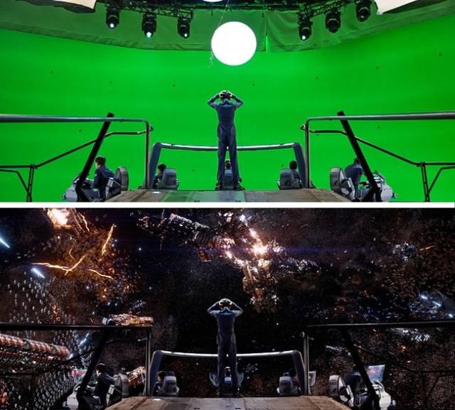 Кадры известных кинолент до и после наложения спецэффектов (20 фото)