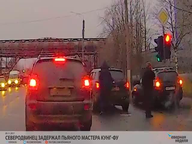 В Северодвинске автомобилист задержал нетрезвого водителя