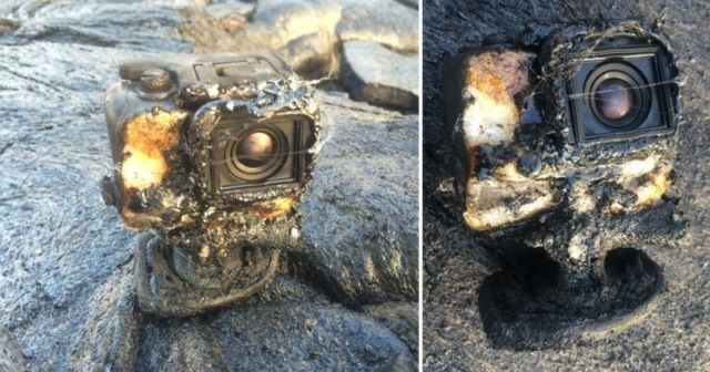 Экшн-камера утонула в лаве, но продолжила работать (фото + видео)