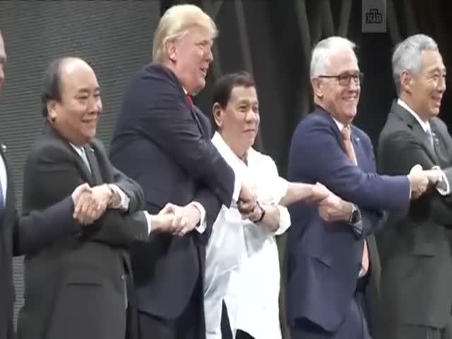Конфуз Дональда Трампа на «рукопожатии АСЕАН»