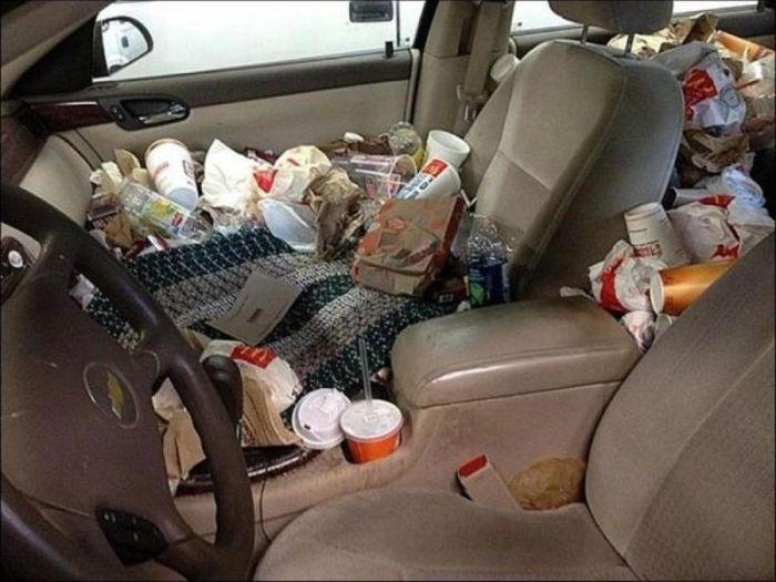 Помойки в салонах автомобилей (14 фото)