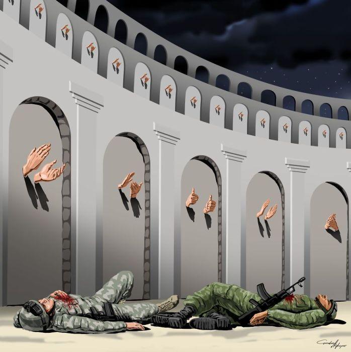 Гюндуз Агаев изобразил проблемы современного общества (11 фото)