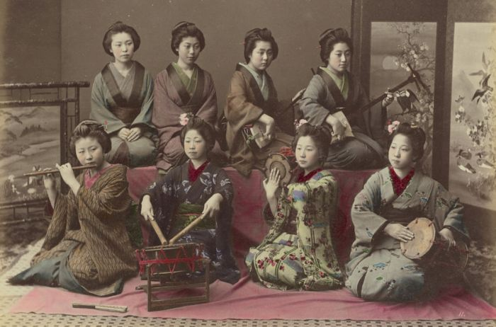 Цветные снимки Японии на рубеже XIX и XX веков (20 фото)