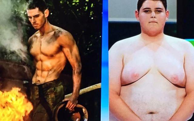 Участник реалити-шоу о похудении Сэм Руэн продемонстрировал прекрасную форму (3 фото)