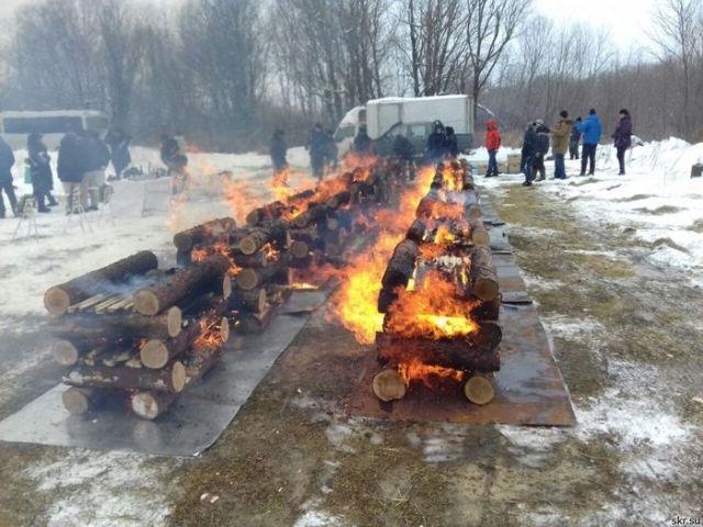 На Сахалине кремировали останки японских солдат (4 фото)