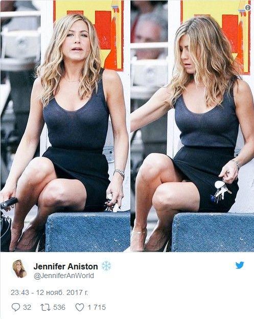 Дженнифер Энистон коротко ответила на вопрос поклонника (3 фото)